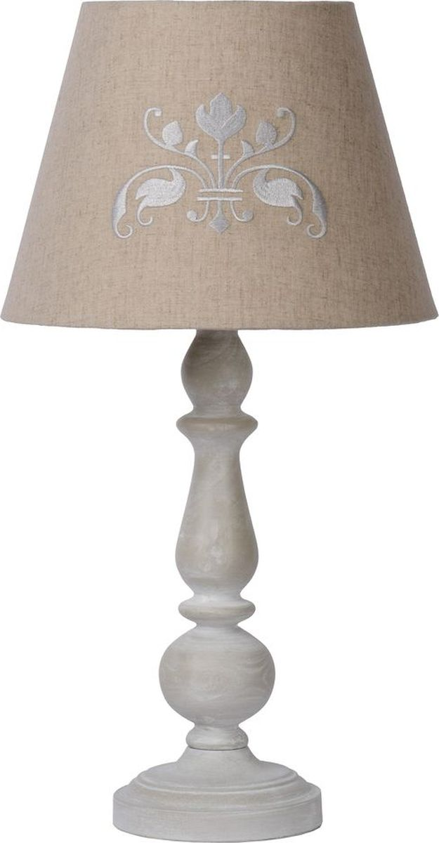 Лампа настольная Lucide Robin, цвет: серый, E27, 60 Вт. 71536/48/4171536/48/41