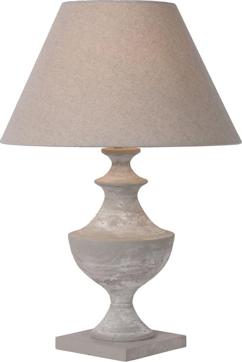 Лампа настольная Lucide Robin, цвет: серый, E27, 40 Вт. 71536/60/4171536/60/41