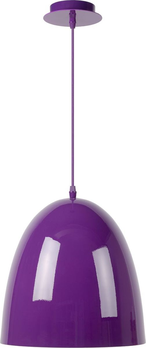 Светильник подвесной Lucide Loko, цвет: фиолетовый, E27, 100 Вт. 76456/30/3976456/30/39