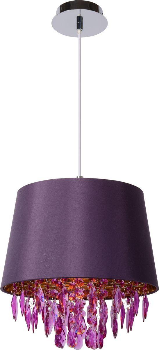 Светильник подвесной Lucide Dolti, цвет: фиолетовый, E27, 60 Вт. 78368/30/3978368/30/39