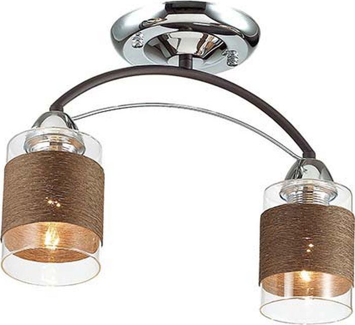 Люстра потолочная Lumion Filla Brown, цвет: прозрачный, E27, 60 Вт. 3030/2C3030/2C