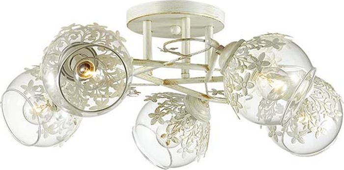 Люстра потолочная Lumion Florana, цвет: прозрачный, E14, 40 Вт. 3041/5C3041/5C