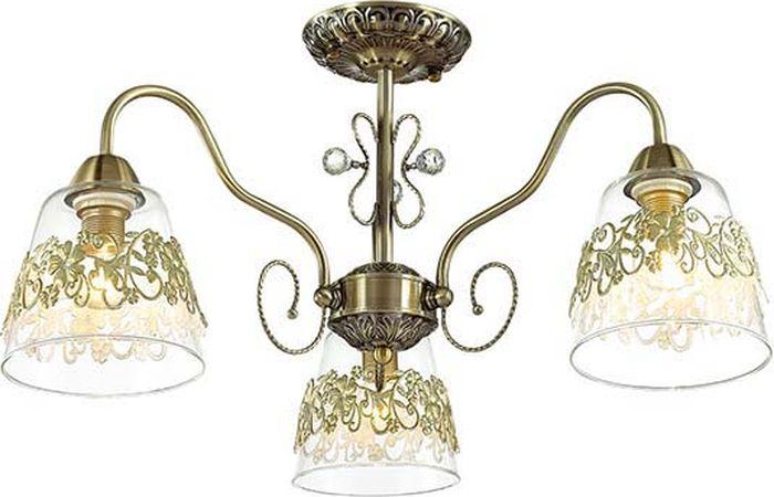 Люстра потолочная Lumion Colombina, цвет: прозрачный, E14, 40 Вт. 3051/3C3051/3C