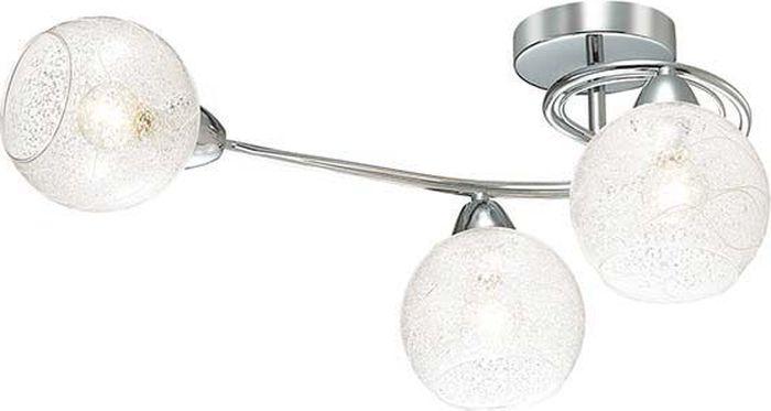 Люстра потолочная Lumion Nevette Chrome, цвет: прозрачный, E14, 60 Вт. 3063/3C3063/3C