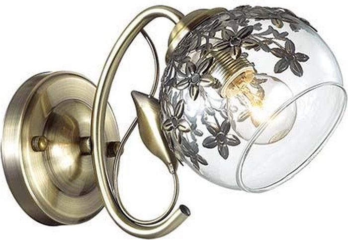 Бра Lumion Felissa Bronze, цвет: прозрачный, E14, 40 Вт. 3067/1W3067/1W