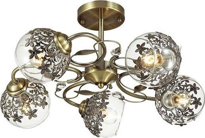Люстра потолочная Lumion Felissa Bronze, цвет: прозрачный, E14, 40 Вт. 3067/5C3067/5C