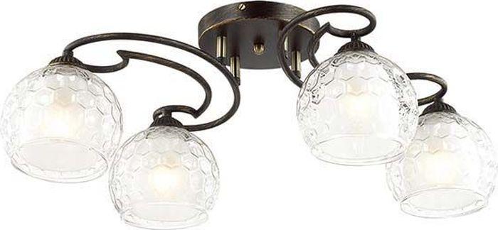 Люстра потолочная Lumion Ampolla Black, цвет: прозрачный, E27, 60 Вт. 3082/4C3082/4C