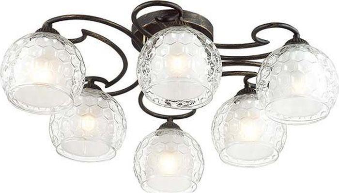 Люстра потолочная Lumion Ampolla Black, цвет: прозрачный, E27, 60 Вт. 3082/6C3082/6C