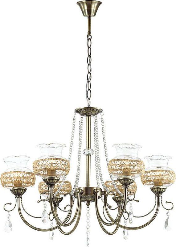 Люстра подвесная Lumion Damila, цвет: прозрачный, E14, 60 Вт. 3095/63095/6