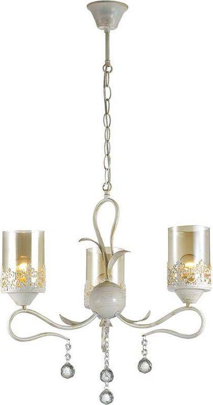 Люстра подвесная Lumion Mirela White, цвет: прозрачный, E14, 40 Вт. 3096/33096/3
