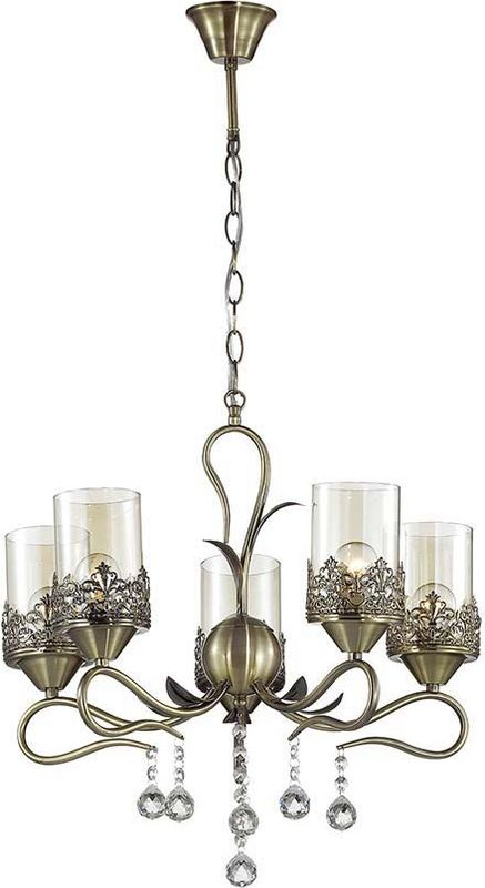 Люстра подвесная Lumion Mirela Bronze, цвет: прозрачный, E14, 40 Вт. 3097/53097/5