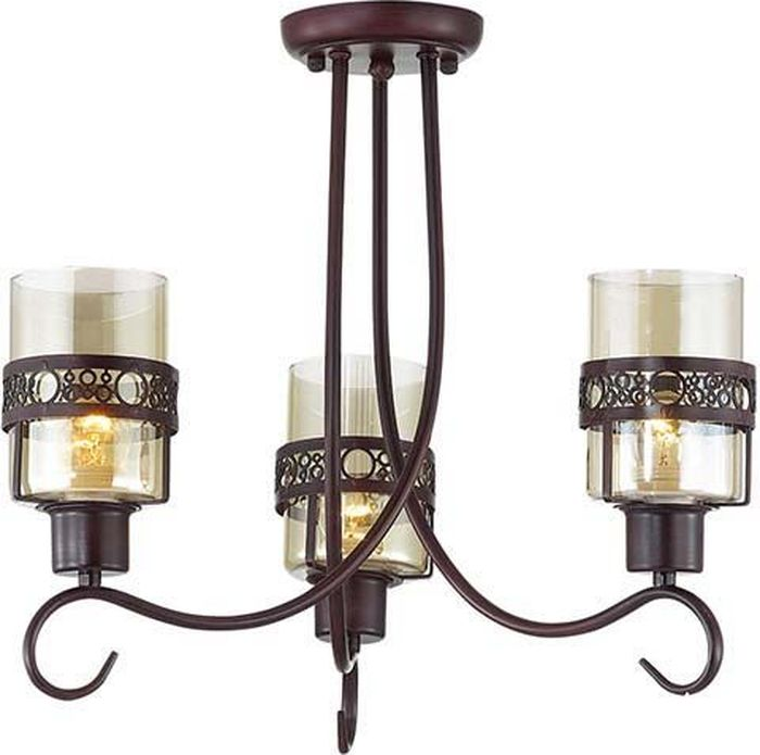 Люстра потолочная Lumion Vitelia Brown, цвет: прозрачный, E27, 40 Вт. 3098/3C3098/3C