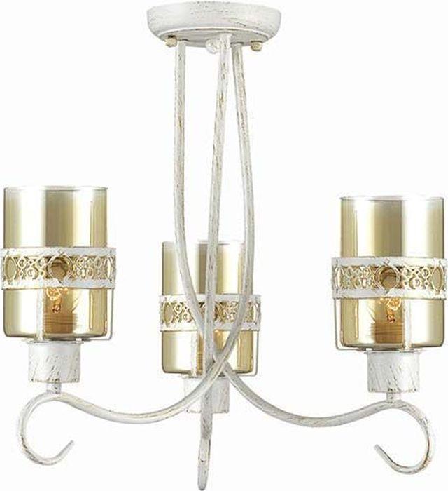 Люстра потолочная Lumion Vitelia White, цвет: прозрачный, E27, 40 Вт. 3099/3C3099/3C