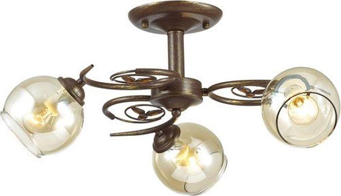 Люстра потолочная Lumion Clodina Brown, цвет: прозрачный, E14, 40 Вт. 3100/3C3100/3C