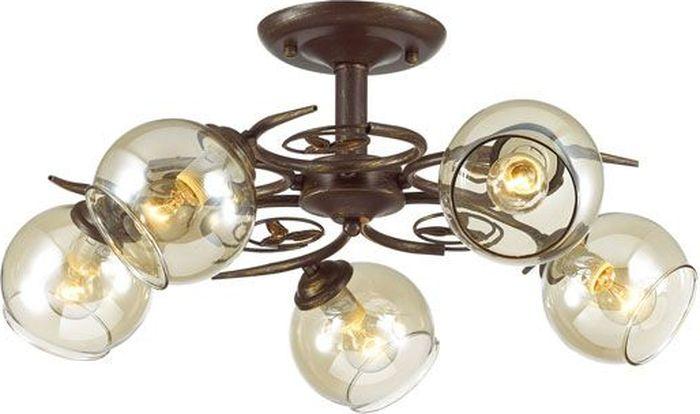 Люстра потолочная Lumion Clodina Brown, цвет: прозрачный, E14, 40 Вт. 3100/5C3100/5C