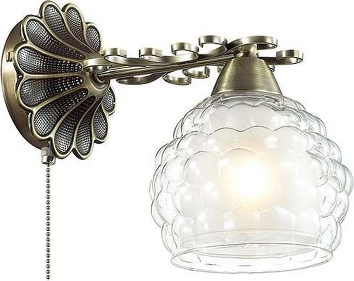 Бра Lumion Ampolla Bronze, цвет: прозрачный, E14, 60 Вт. 3106/1W3106/1W