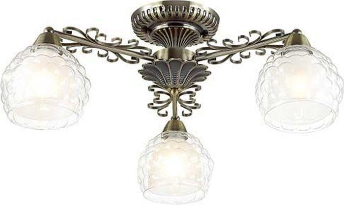 Люстра потолочная Lumion Ampolla Bronze, цвет: прозрачный, E14, 60 Вт. 3106/3C3106/3C