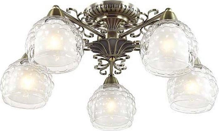 Люстра потолочная Lumion Ampolla Bronze, цвет: прозрачный, E14, 60 Вт. 3106/5C3106/5C