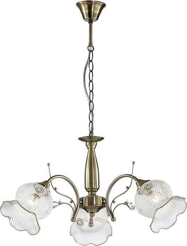 Люстра подвесная Lumion Rozetta Bronze, цвет: белый, E14, 40 Вт. 3110/33110/3