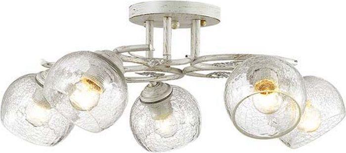 Люстра потолочная Lumion Clodina White, цвет: прозрачный, E14, 40 Вт. 3116/5C3116/5C