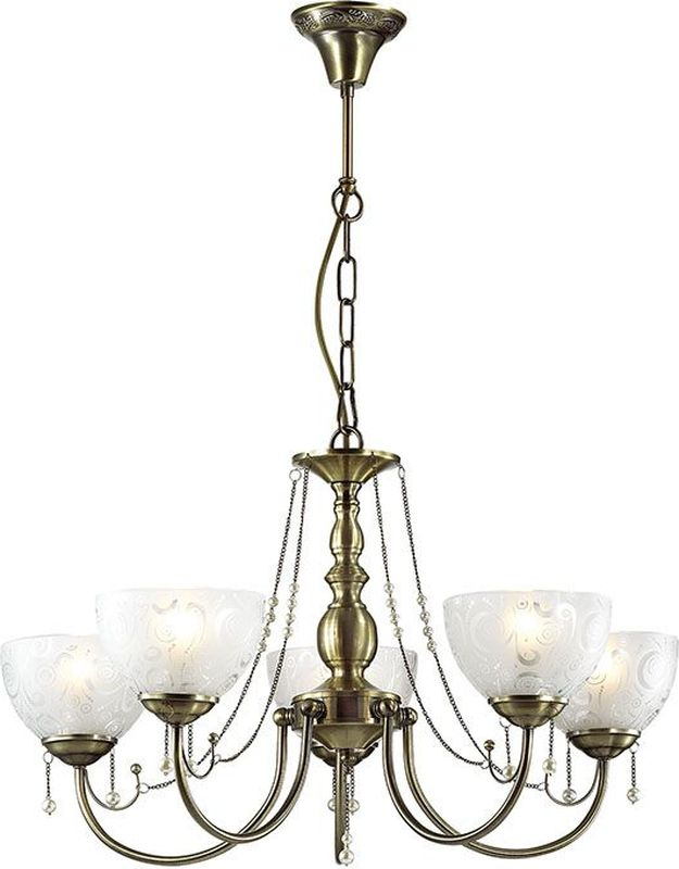 Люстра подвесная Lumion Levante Bronze, цвет: белый, E27, 60 Вт. 3130/53130/5