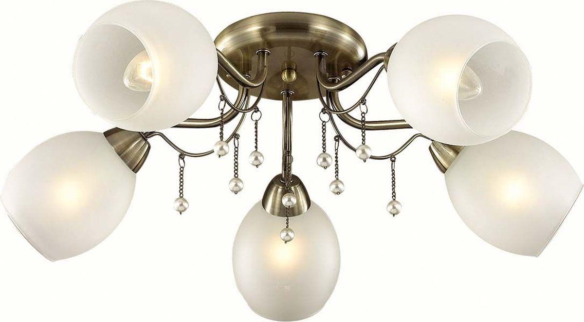 Люстра потолочная Lumion Veronica, цвет: белый, E27, 60 Вт. 3145/5C3145/5CLumion Veronica - люстра потолочного типа, которая идеально подходит для спальни, для гостиной в итальянском классическом стиле. Люстра Lumion идеально подходит для освещения комнат с площадью до 23.33 кв. м. В данной модели устанавливаются лампы накаливания с цоколем Е27 в количестве 5 штук.Люстра потолочного типа коллекции Veronica, исполненная из металла с плафонами белого цвета, предназначена для гипсокартонного, низкого потолка. Габаритные размеры: высота 190 мм, диаметр 620 мм.Напряжение; 220VМощность: 60WТип крепления: монтажная планка.