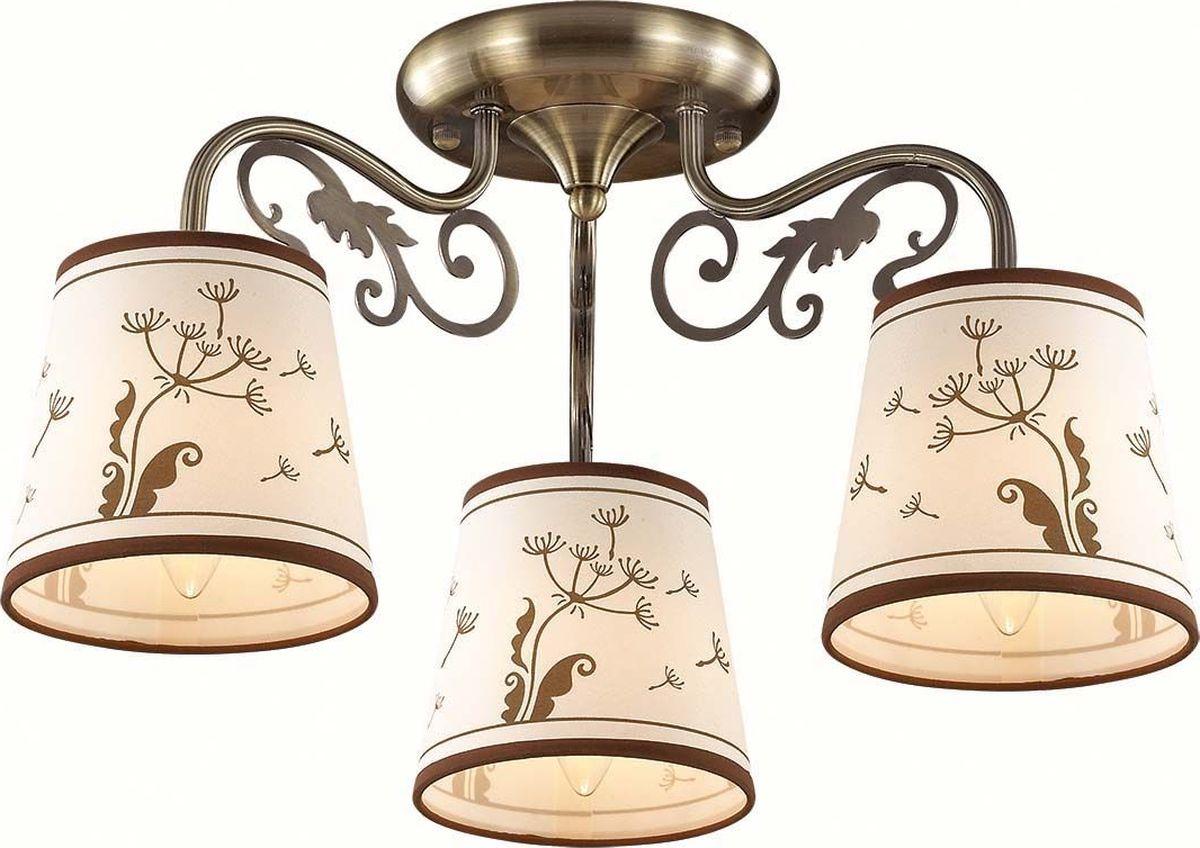 Люстра потолочная Lumion Zinetta Bronze, цвет: белый, E14, 40 Вт. 3204/3C3204/3C