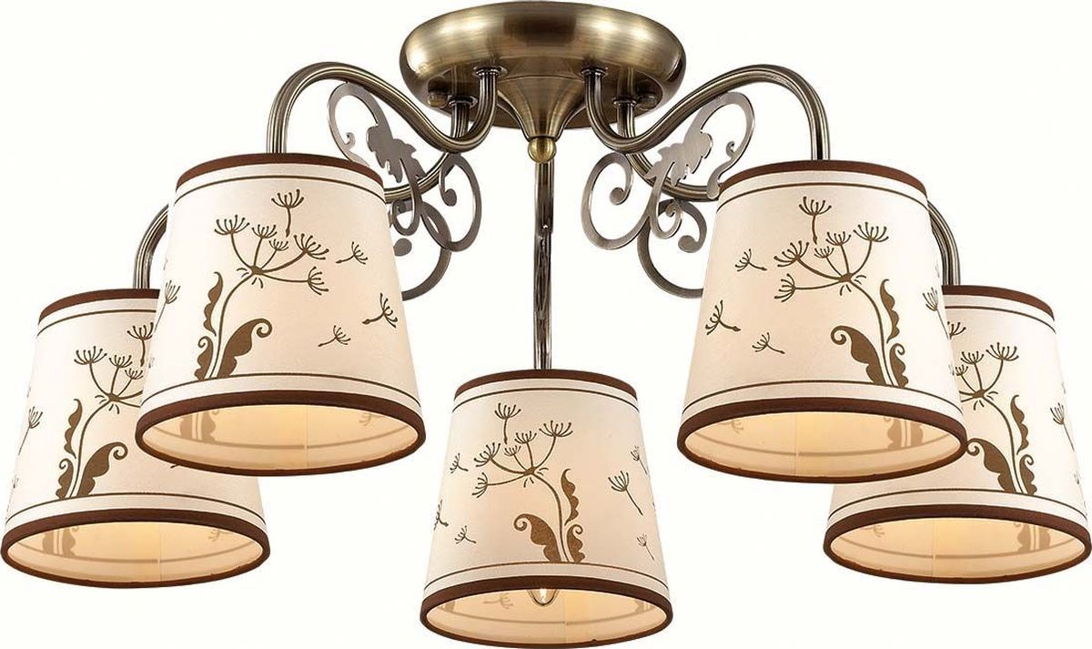 Люстра потолочная Lumion Zinetta Bronze, цвет: белый, E14, 40 Вт. 3204/5C3204/5C