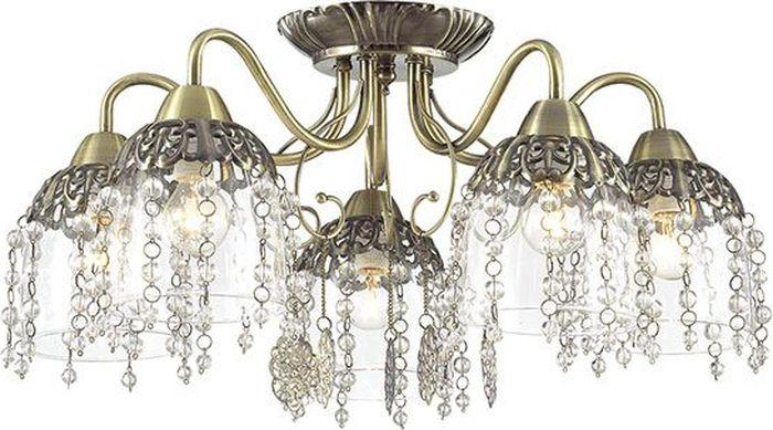 Люстра потолочная Lumion Doriana, цвет: прозрачный, E14, 60 Вт. 3244/5C3244/5C