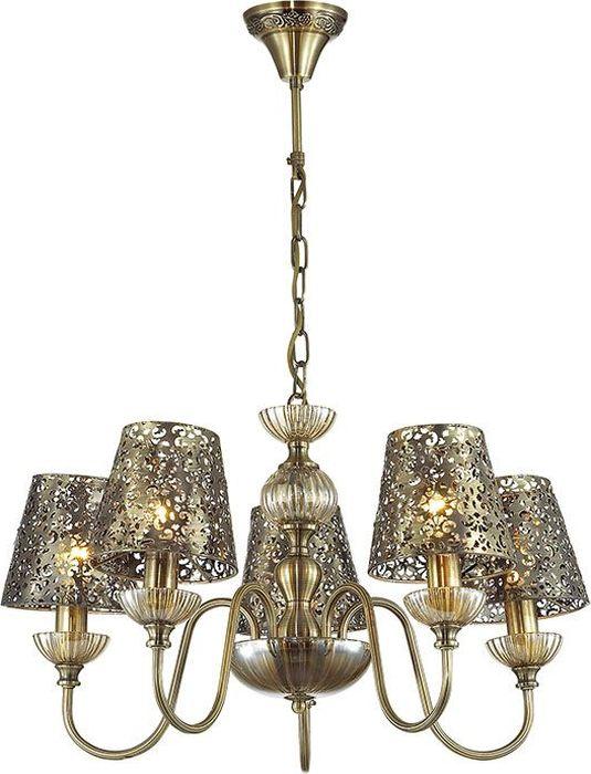 Люстра подвесная Lumion Godelina Bronze, цвет: бронза, E14, 60 Вт. 3260/5 люстра 3260 5 5 60w 220v godelina