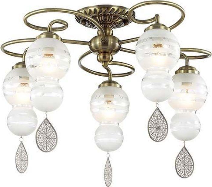 Люстра потолочная Lumion Piretta Bronze, цвет: белый, E14, 60 Вт. 3273/5C3273/5C