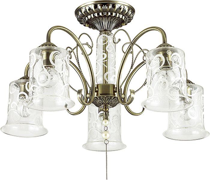 Люстра потолочная Lumion Santalla, цвет: прозрачный, E14, 40 Вт. 3290/5C3290/5C