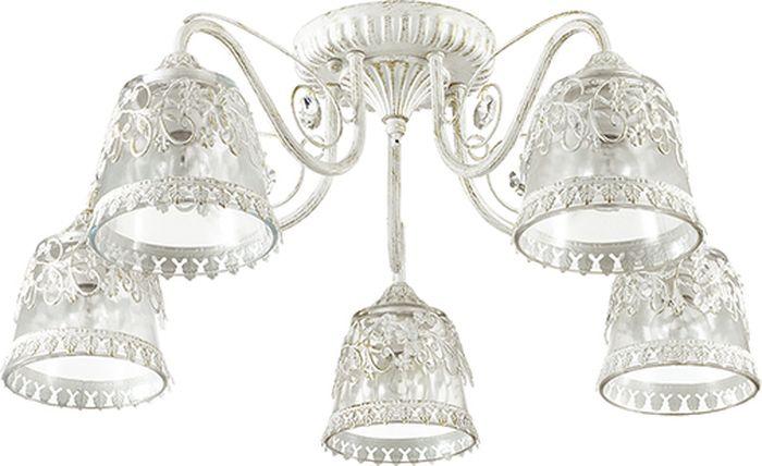 Люстра потолочная Lumion Olimpia White, цвет: прозрачный, E14, 60 Вт. 3433/5C3433/5C