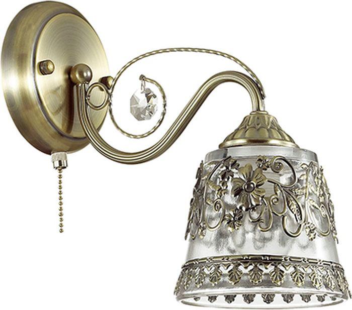 """Бра Lumion """"Olimpia Bronze"""" предназначено для освежения жилых помещений..Характеристики: Крепление: потолочноеКоличество ламп: 1Максимальная мощность: 60 ВтПлощадь освещения: 3,3 кв. мЭлектропитание: от сети 220 ВтТип выключателя: механический Тип цоколя: Е14Вид лампы: накаливанияМатериал плафона: стеклоЦвет плафона: прозрачный."""