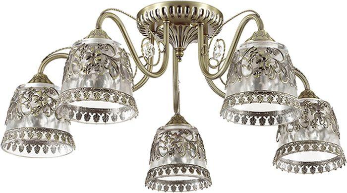 Люстра потолочная Lumion Olimpia Bronze, цвет: прозрачный, E14, 60 Вт. 3444/5C3444/5C