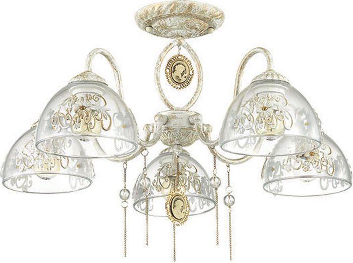 Люстра потолочная Lumion Absolona White, цвет: прозрачный, E27, 60 Вт. 3453/5C3453/5C