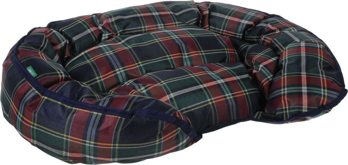 Лежак Titbit, цвет: зеленый, бордовый, 70 х 45 см бусы авантюрин зеленый 45 см