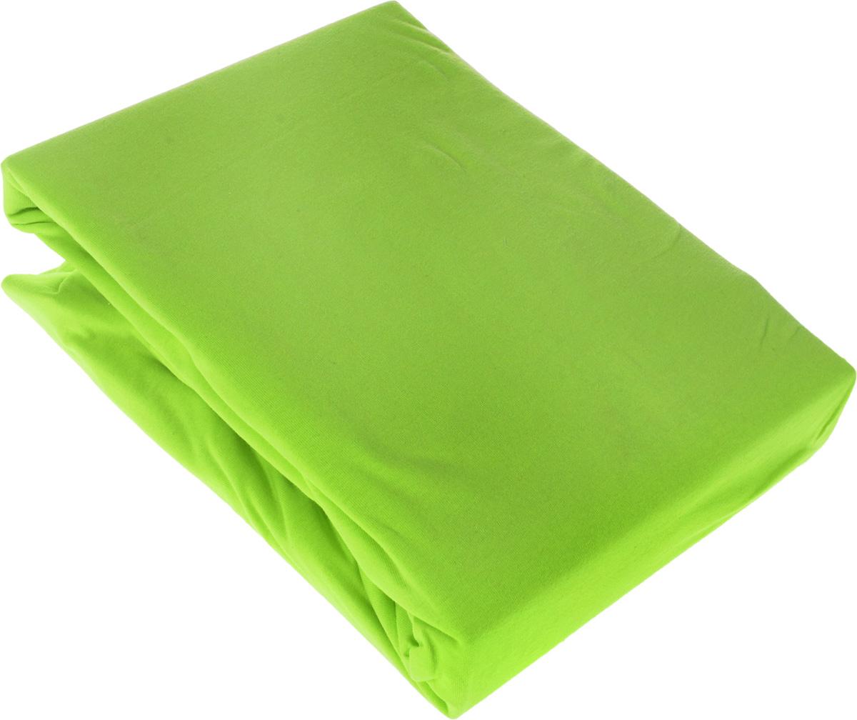 Простыня OL-Tex Джерси, на резинке, цвет: светло-зеленый, 180 см х 200 см х 20 смПтр-180Простыня OL-Tex Джерси изготовлена из гладкокрашеного трикотажного полотна, не имеет швов. По всему периметру простыня снабжена резинкой. Изделие легко одевается на матрасы высотой до 20 см. Идеально подходит в качестве наматрасника. Рекомендации по уходу:- Ручная и машинная стирка при температуре 30°С.- Гладить при средней температуре до 150°С.- Не отбеливать. - Можно сушить и отжимать в стиральной машине. - Химчистка запрещена.