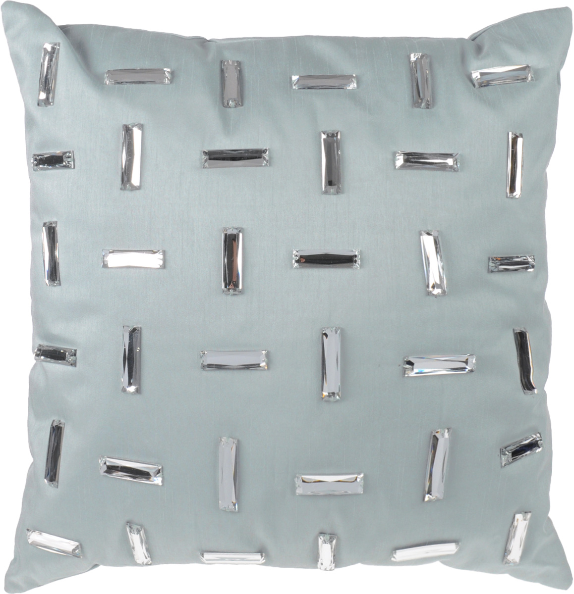 """Декоративная подушка """"Коллекция"""", выполненная из полиэстера серого цвета с набивкой из силиконизированного волокна, станет отличным подарком для каждого.  Подушка расшита декоративными блестящими элементами . Съемный чехол закрывается на застежку-молнию.   Такая подушка подарит комфорт и уют, а также станет оригинальным украшением интерьера.   Характеристики:  Материал чехла: 100% полиэстер, пластик. Набивка: 100% силиконизированное волокно. Размер подушки: 40 см x 40 см. Артикул: ПДА-6."""