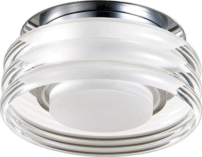 Светильник встраиваемый Novotech Calura, цвет: прозрачный, LED, 9 Вт. 357154357154