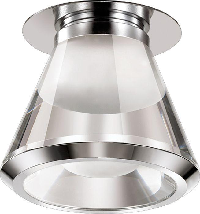 Светильник встраиваемый Novotech Calura, цвет: прозрачный, LED, 9 Вт. 357160357160