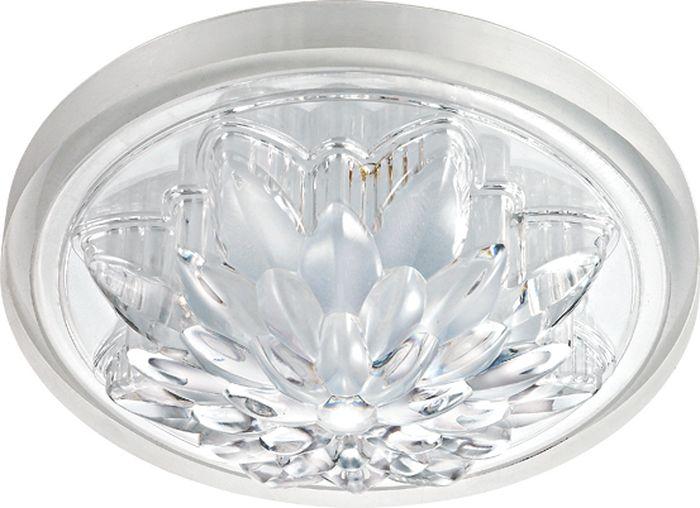 Светильник встраиваемый Novotech Lago, цвет: прозрачный, LED, 25 Вт. 357315357315