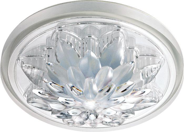 Светильник встраиваемый Novotech Lago, цвет: прозрачный, LED, 5 Вт. 357316357316
