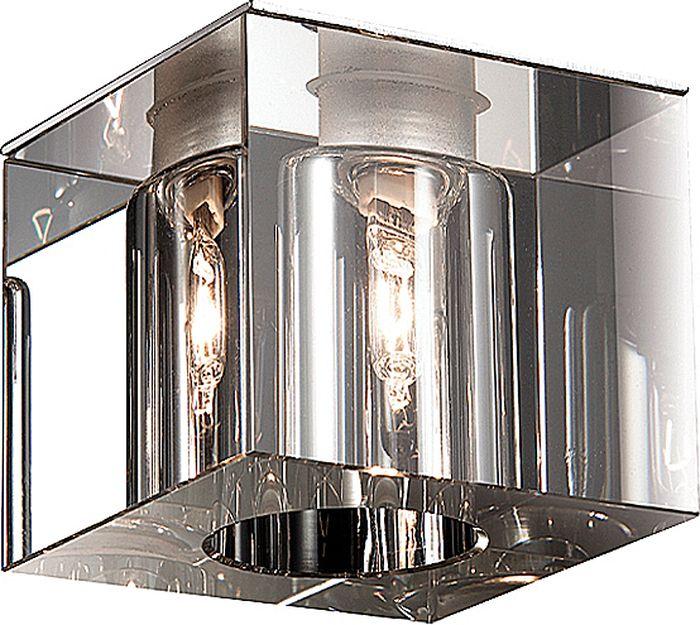 Светильник встраиваемый Novotech Cubic, цвет: прозрачный, G9, 2,2 Вт. 369276369276