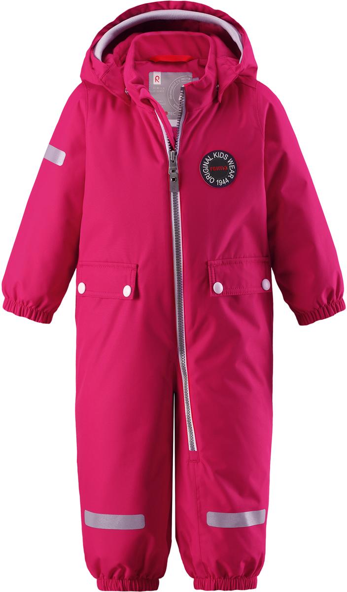 Комбинезон утепленный для девочек Reima Reimatec Maahinen, цвет: розовый. 5102923560. Размер 925102923560