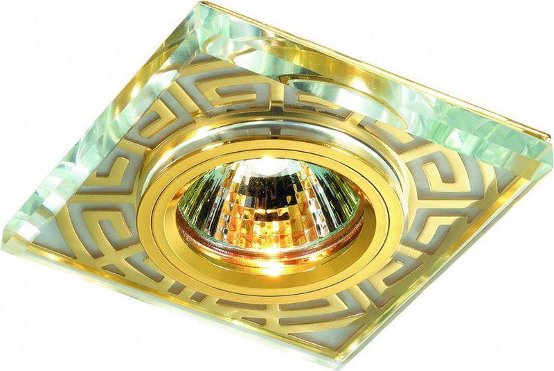 Светильник встраиваемый Novotech Maze, цвет: золото, GX5.3, 2,8 Вт. 369585369585