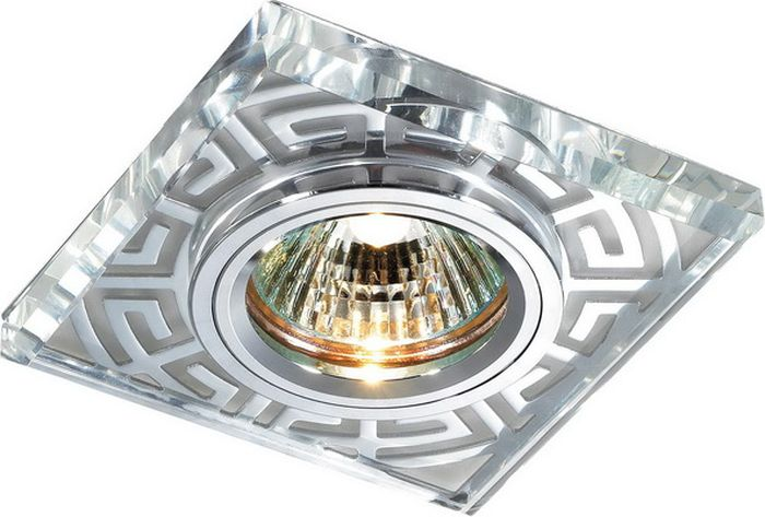 Светильник встраиваемый Novotech Maze, цвет: хром, GX5.3, 2,8 Вт. 369586369586