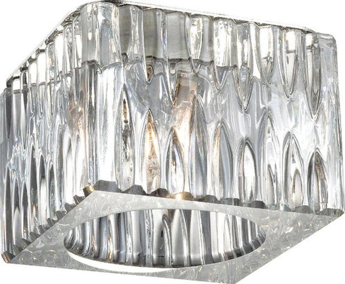 Светильник встраиваемый Novotech Cubic, цвет: прозрачный, G9, 2,2 Вт. 369596369596