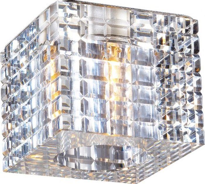Светильник встраиваемый Novotech Cubic, цвет: прозрачный, G9, 2,2 Вт. 369600369600
