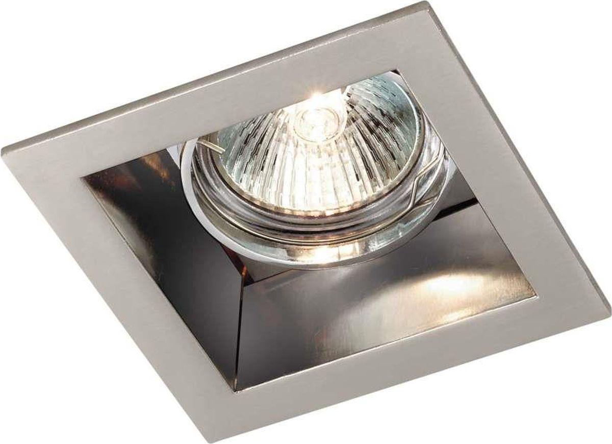 Светильник встраиваемый Novotech Bell, цвет: матовый никель, GX5.3, 2,8 Вт. 369638369638